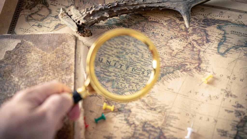 odkrywać Amerykę mapa